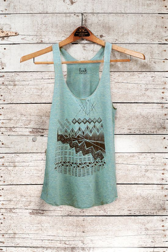 Astral Teepee  womens triblend tank  black  by Bark by barkdecor, $26.00