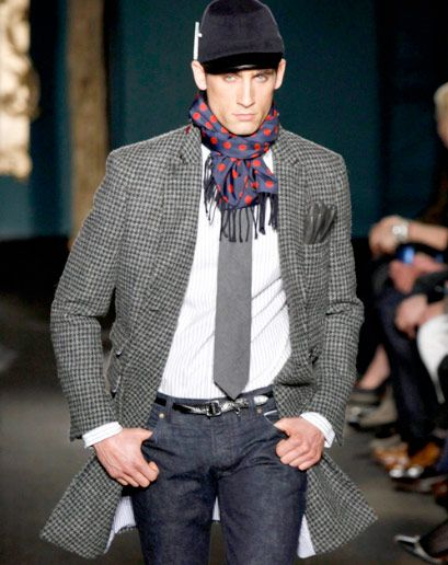 """The houndstooth double-breasted overcoat.""—Ted Stafford, GQ European market editor  Michael Bastian Fall 2012 Collection Best Looks of the Day 2012"