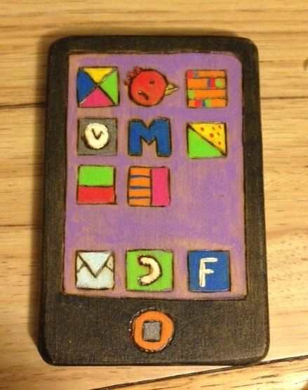 Too cute! Handmade smart phone toddler toy by aewoodentoys on Etsy, $16.00
