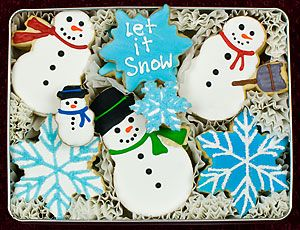 Let It Snow Decorated Cookies Gift Tin
