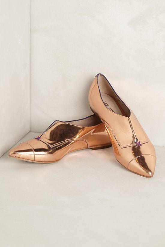 Red Carpet Oxfords in Rose Gold