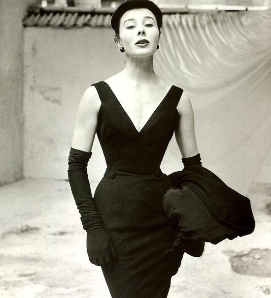 Bettina Graziani in Christion Dior, 1952