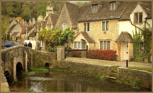 Castle Combe Cottages, England