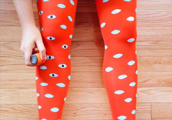 diy painted tights