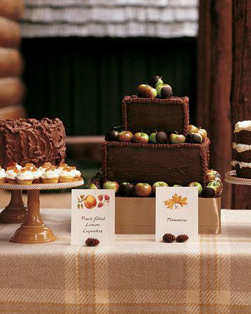 Small Chocolate Wedding Cakes