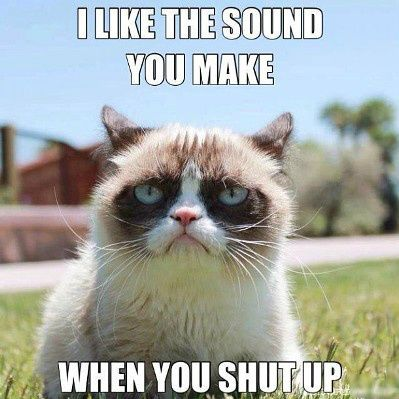 Grumpy Cat I love you