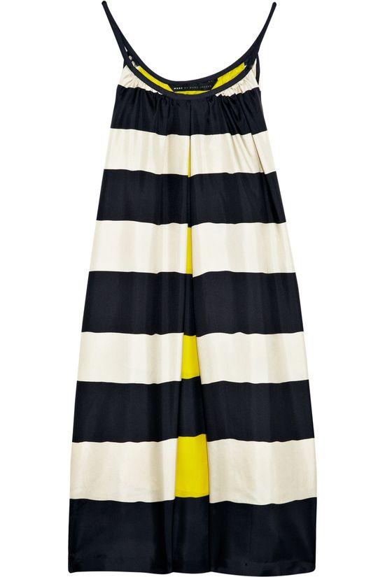 Marc by Marc Jacobs  Bella striped silk dress