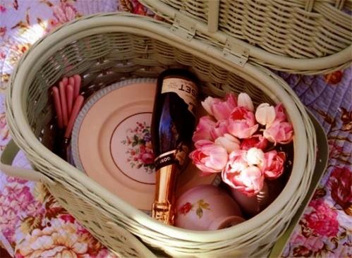 Romantic picnic.