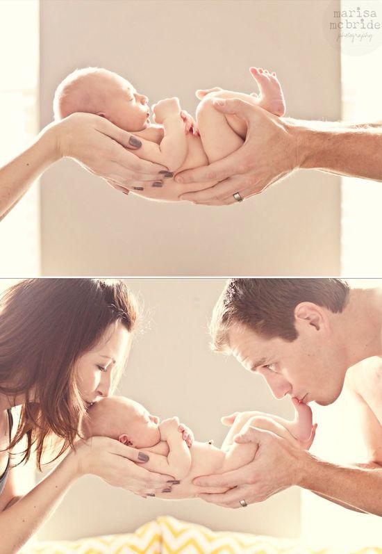 Mom, Dad, newborn picture