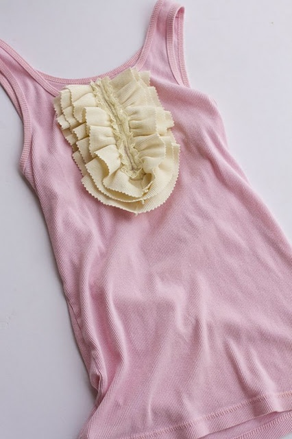 Ruffle Tank DIY- Easy and adorable!  (Plus, I have Christmas gift pinking shears that I'm dying to use!) (O:
