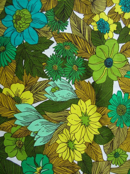 vintage 60's fabric pattern