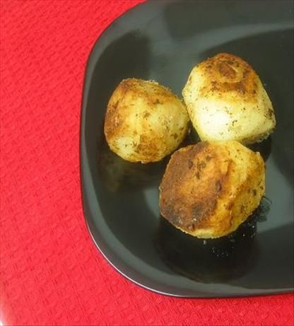 Rissole Potatoes by Kit^..^ty Of Canada, food.com:  In just one pan, these potatoes get crisp on the outside, creamy on the inside, and buttery all over!  #Potatoes #Rissole #Easy