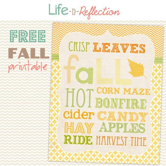 Free Fall Printable and Decor