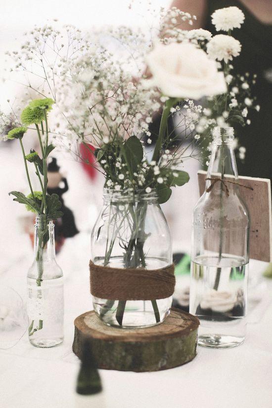 Rustic wedding centerpieces DIY by me @Uchi Solano