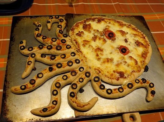 Octopus Pizza Design