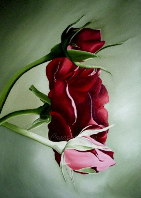 Red rose flower art print  #etsy #flower #print
