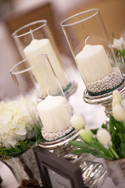 #candle centerpieces winter wedding... Wedding ideas for brides, grooms, parents & planners ... itunes.apple.com/... … plus how to organise an entire wedding ? The Gold Wedding Planner iPhone App ?