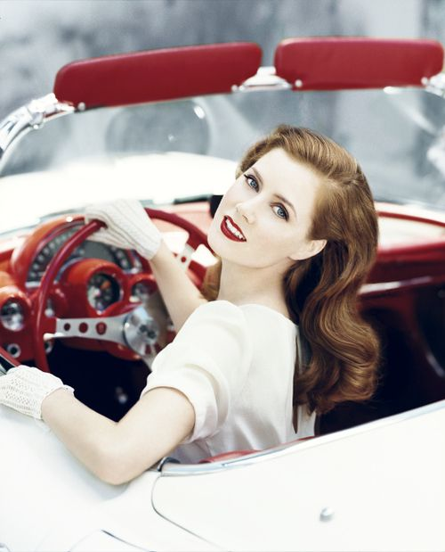 Amy Adams #vintage #red #lovely vintage bridal style