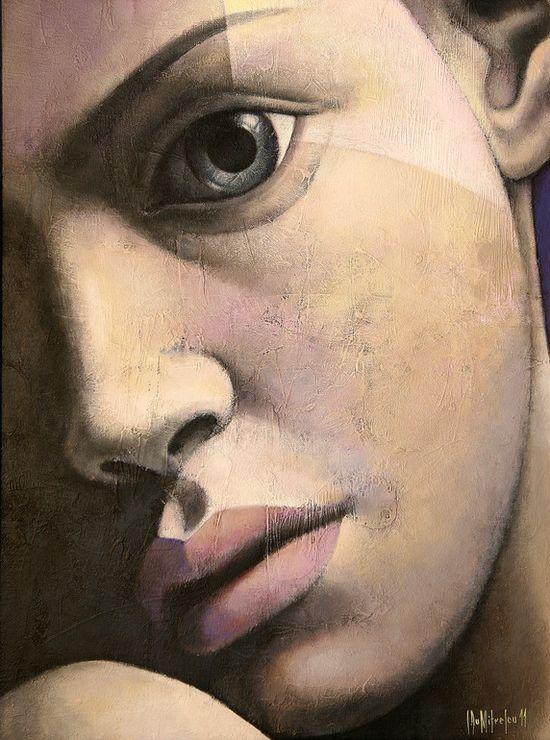 "Saatchi Online Artist: sorin dumitrescu mihaesti; Acrylic, Painting ""Portrait 9"""