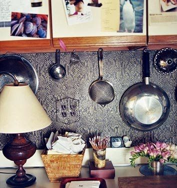 Apartment 132: DIY: The Ever-Clever & Chic Wallpapered Kitchen Backsplash, with vinyl wallpaper