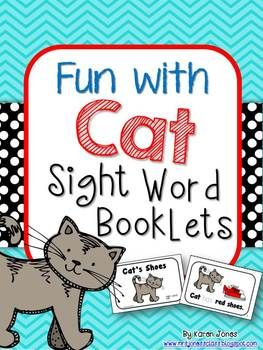 Fun with Cat! Printable sight word booklets for emergent readers. #TpT