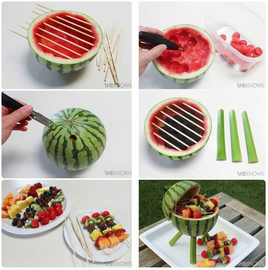Cute watermelon grill