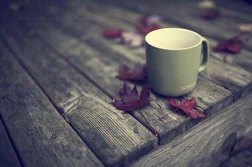 coffee in the fall.