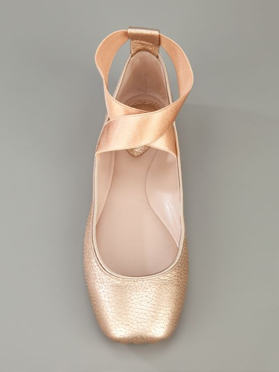 flats made to look like pointe shoes--
