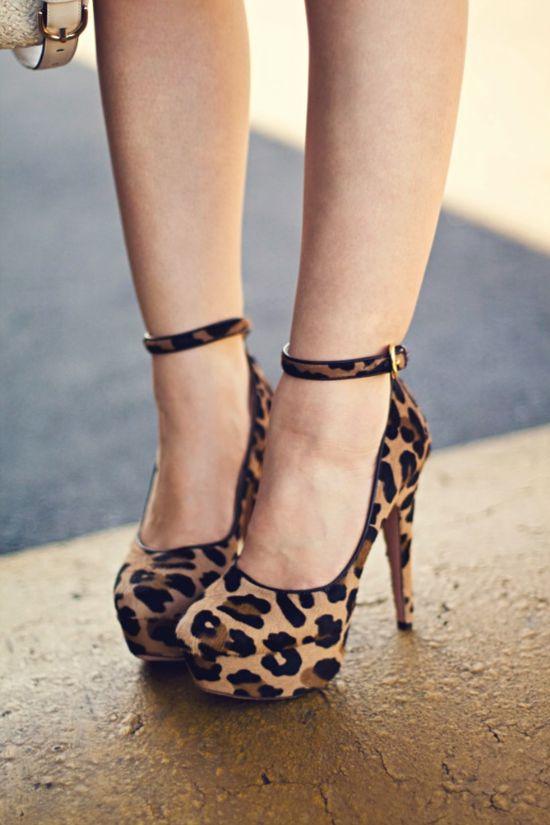 Prada leopard pumps.