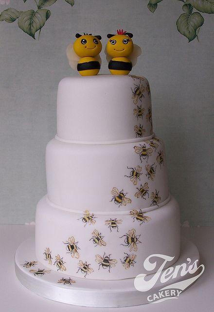 Charlie & Jo's Bee Cake! by Jen's Cakery, via Flickr