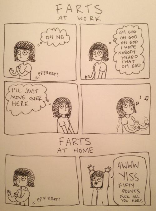 Farts: At Work Vs At Home Bahahaha this cracked me up