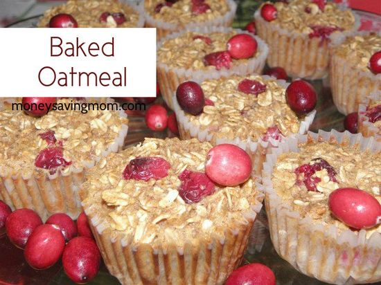 Baked Oatmeal: Portion-Sized & Freezer Friendly