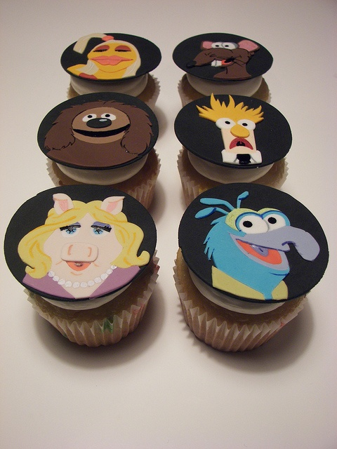 Muppet Cupcakes by death by cupcake, via Flickr