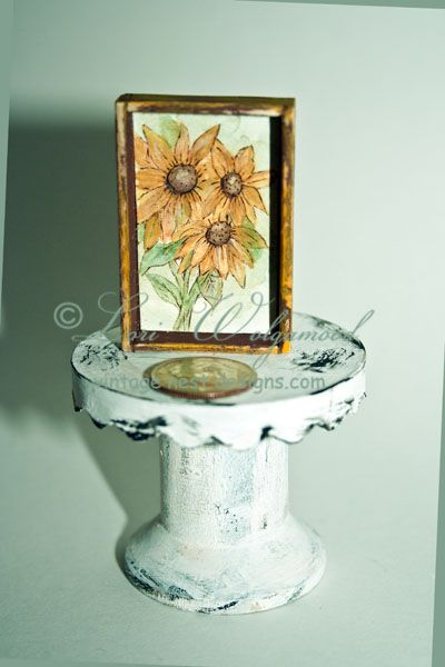 Sunflowers No.2 Print - Miniature for Doll House -  : Vintage Nest Designs, Creative Handmade and Hand Painted Designs