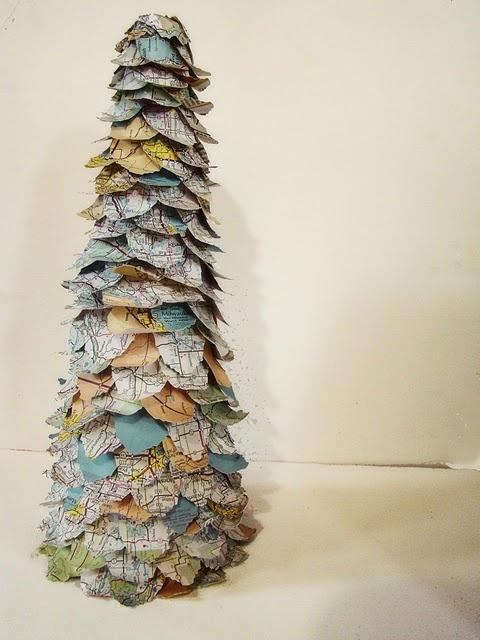 paper map tree