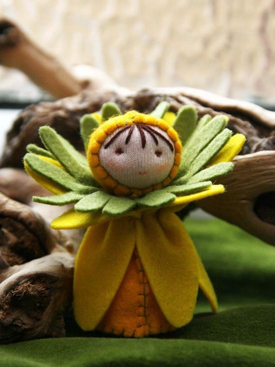 felt flower person