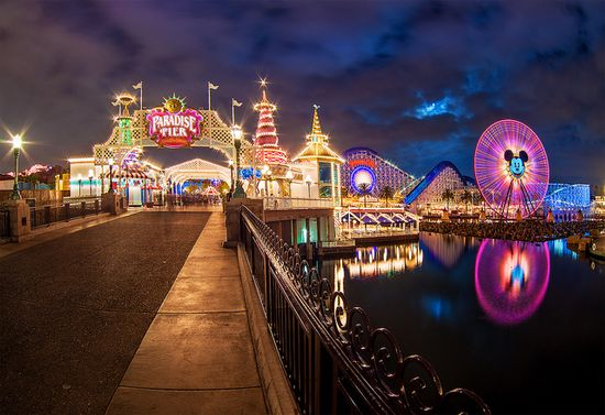 Full Moon Over Paradise Pier