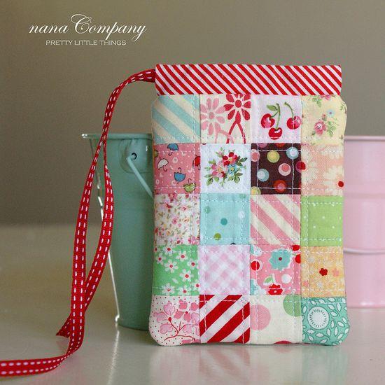 postage stamp patchwork pouch by nanaCompany, via Flickr