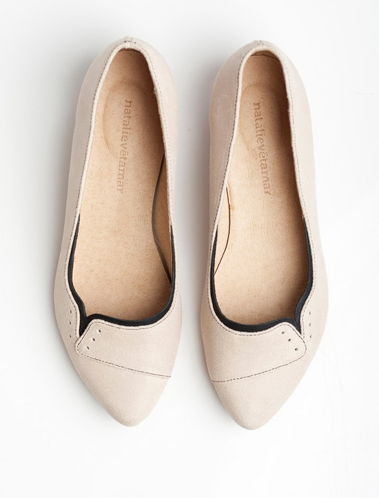 Ninna flats in Sand color  $160