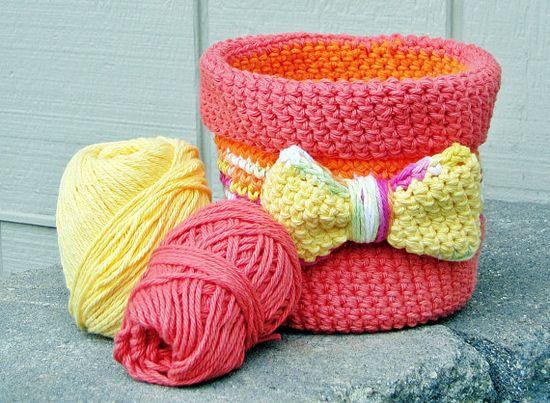 Handmade Crochet Basket  Crochet Bowl  by HandmadeByAnnabelle