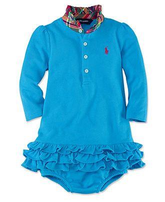 Ralph Lauren Baby Girls Dress, Baby Girls Stretch Mesh Dress - Kids Baby Girl (0-24 months) - Macy's