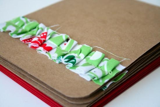Ruffled fabric cards