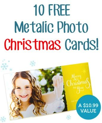 10 FREE Metalic Photo Christmas Cards! {just pay s/h}