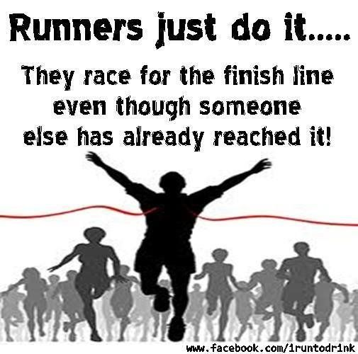 Runners just do it.
