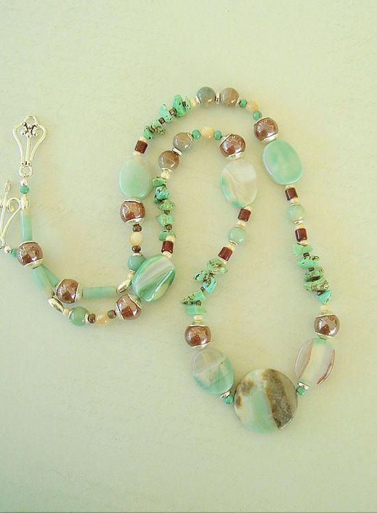 Boho Necklace Southwest Jewelry Bohemian Style by BohoStyleMe