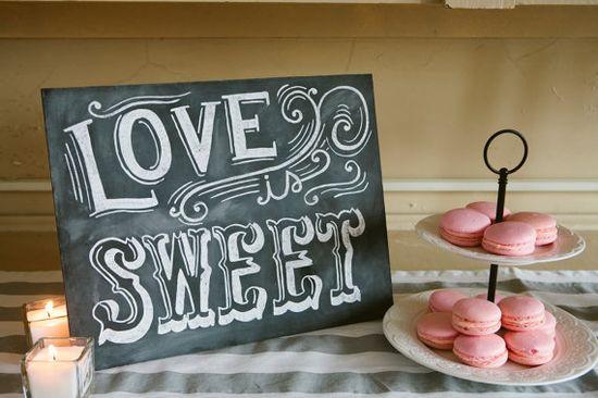 Candy Buffet Sign - Love Is Sweet - Vintage Wedding Chalkboard  - Shabby Chic Wedding - Wedding Chalkboard