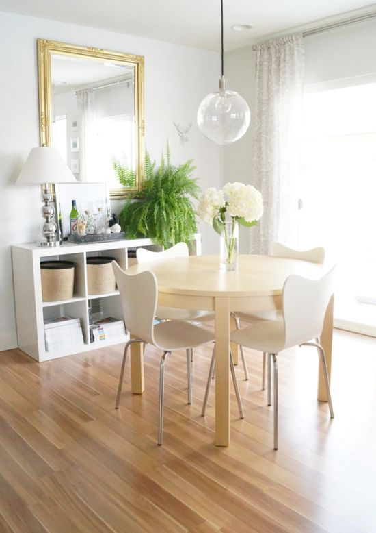 clean dining area