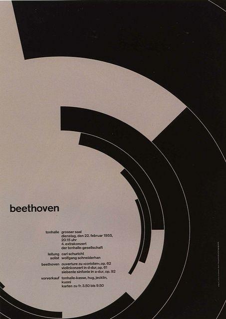 Zurich Tonhalle concert poster ~Josef Müller-Brockmann