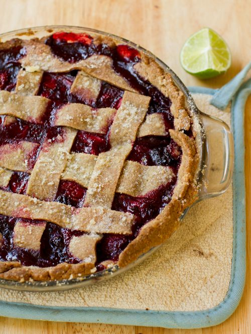 Blackberry lime pie!