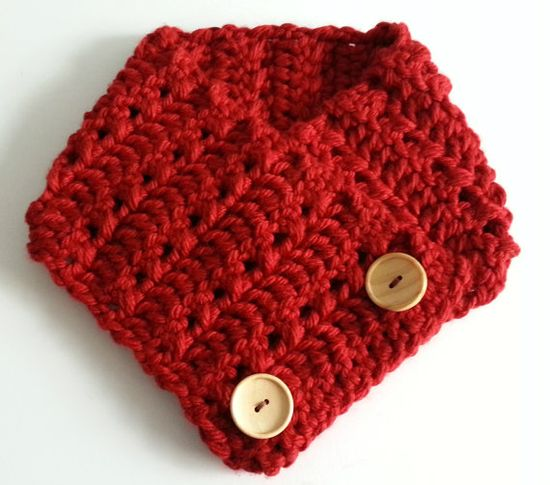 Hand made adjustable scarf in Deep Red
